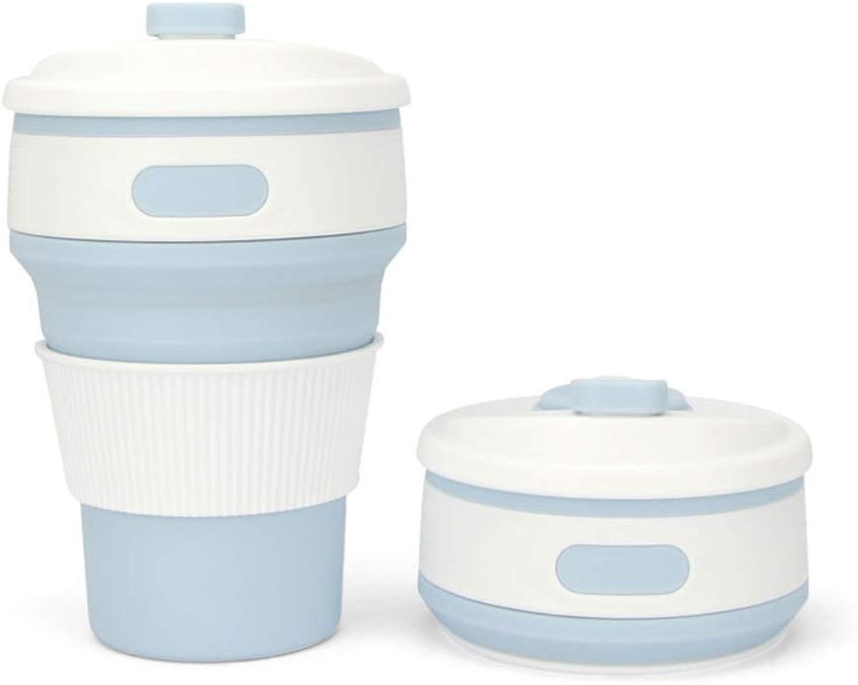 ZCP Tasse à Café en Silicone Pliante Multi-Fonction Télescopique Tasse Tasse à Eau portable Tasse à Eau Pliante en Silicone Randonnée Sports De Silicone Pliant Tasse