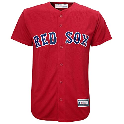 MLB 8-20 Youth Blank Cool Base Alternate Color Team Jersey (Large 14/16, Boston Red Sox Alternate Red)
