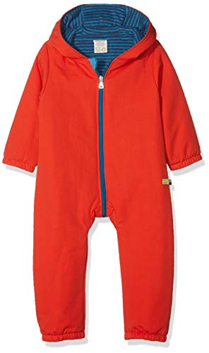 loud + proud Baby-Unisex Wasserabweisender, wattierter Overall Schneeanzug, Orange (Sunrise Su), 56
