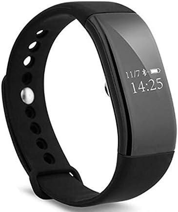 SODIAL V66 Pulsera Elegante del Ritmo Cardíaco Podómetro Bluetooth 4.0 Monitor de Sue?o Caloría Recordatorio de Llamada/SMS Recordatorio Sedentario para Android iOS