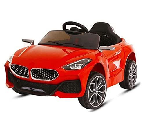 SBToys 12V Battery Operated Ride on Battery Car with Mobile Application Control and Remote Control , Swing Option, Lights and Music System for 1 to 5 Years Kids (RED}
