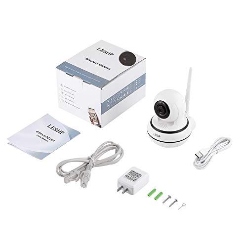 LESHPホームセキュリティワイヤレスWiFi IPカメラビデオモニタ960P夜、ホワイト&ブラック、USプラグ
