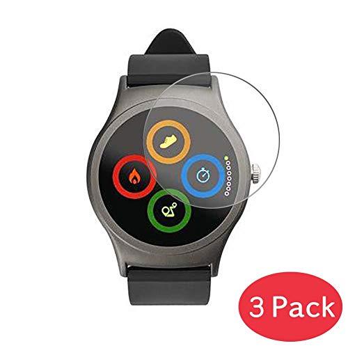 Vaxson 3 Stück 9H Panzerglasfolie kompatibel mit Acme SW201 Panzerglas Schutzfolie Displayschutzfolie Bildschirmschutz Intelligente Uhr Armband Smartwatch