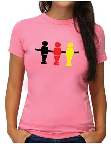OM3® Deutschland T-Shirt | Damen | Fussball Kicker Tischkicker | XXL, Pink