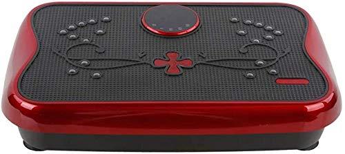 Máquinas de pérdida de peso con vibración 3D Máquina de entrenamiento de cuerpo completo con masaje Shiatsu + pantalla de consumo de calorías + control remoto para pérdida de peso/modelado rojo