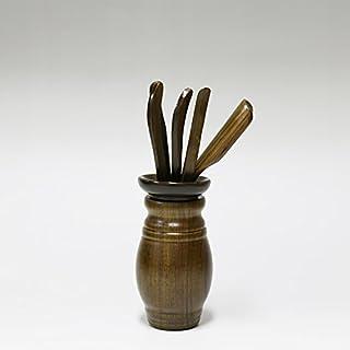 春福 茶道の道具を手にして茶具の部品である茶芸部品の実木六君子(まゆ)のセット-竹新鲜の精品。 (绿檀花瓶)