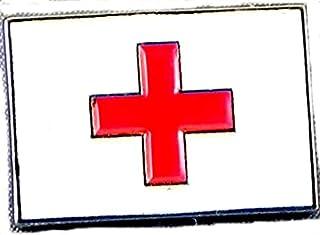 Mainly Metal Metallo Smalto Spilla Badge Croce Rossa Bandiera