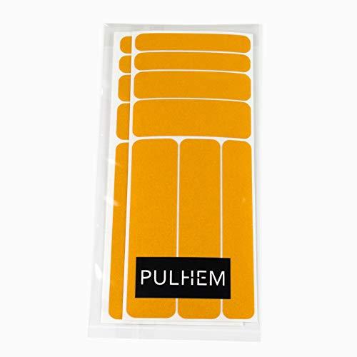 PULHEM reflektierendes Reflex-Aufkleber Set14 aus Reflexfolie gelb