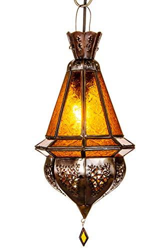 Oosterse lamp hanglamp geel Moulay 45 cm E27 lampfitting | Marokkaans design hanglamp lamp lamp uit Marokko | Orient lampen voor woonkamer keuken of hangend boven de eettafel