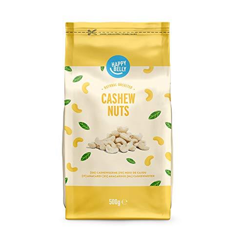 Marque Amazon - Happy Belly Noix de cajou entières , 500g