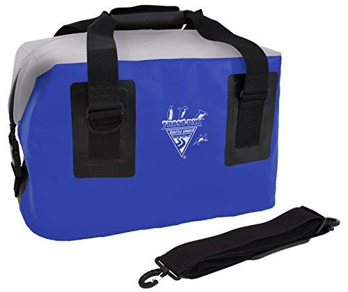 Seattle Sports Built USA Frostpak 44 QT éclair sur Le Dessus Coffre Bleu