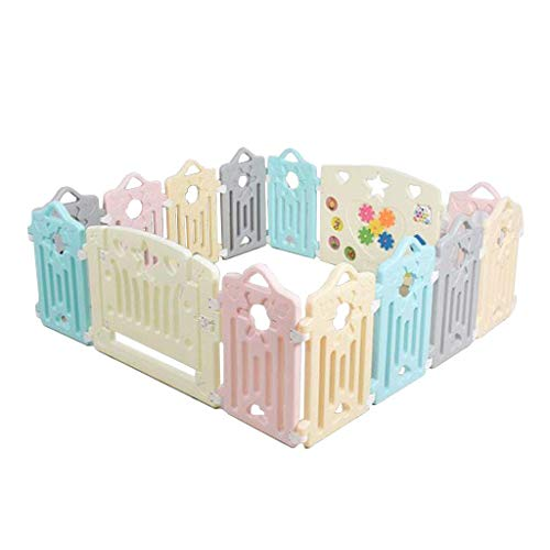 Relaxbx Baby Play Clôture Portable Enfants 'S Toys Playground Baby Rampant Toddler Safety Fence Clôture en Plastique