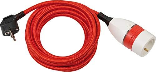 Brennenstuhl cable alargador de plástico 5 m con cubierta textil y interruptor...