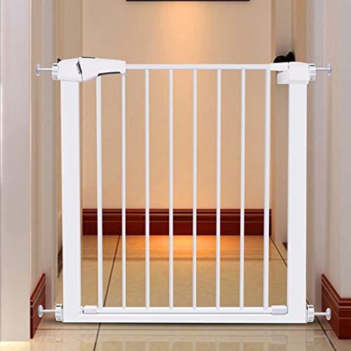 Gehen Sie Durch Baby-Sicherheitstore Haustierzaun Extra Breit Für Türen Gartengang Kamin Zaun Mit Tür Hund Leitplanke Isolation Geländer Druckhalterung(Color: Hight 76,Size:133~137cm)
