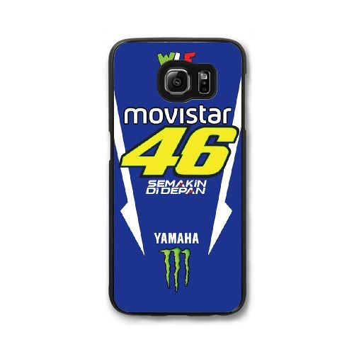 Samsung Galaxy S7 Edge Cell Phone Case Black Valentino Rossi VR 46 Custom Case Cover QW8I569674
