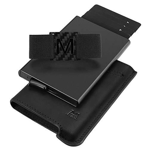 Credit Card Holder - Minimalist RFID Blocking Wallet, Pop-up Card Case custom for Men Dad Father (3.Black)