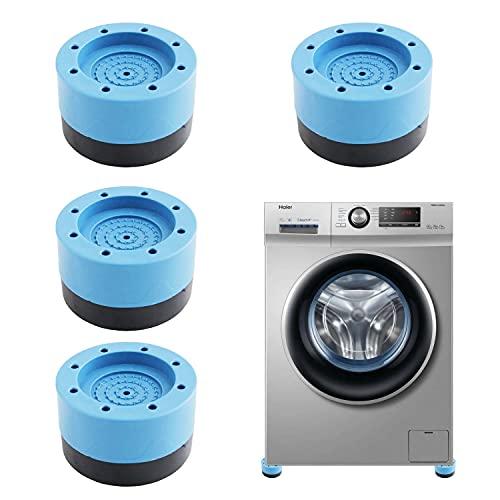 HENGBIRD 4 alfombrillas antivibración para lavadora y pies, amortiguadores de vibración, almohadilla de goma, universal para la secadora (verde, 3,5 cm)