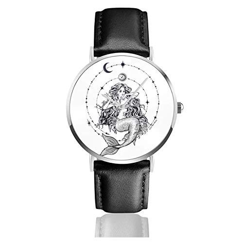 Armbanduhr Analog Quarz Ultra Dünn Business PU Leder Armband Uhren Shock Top Bier Belgisch Weiß Bild