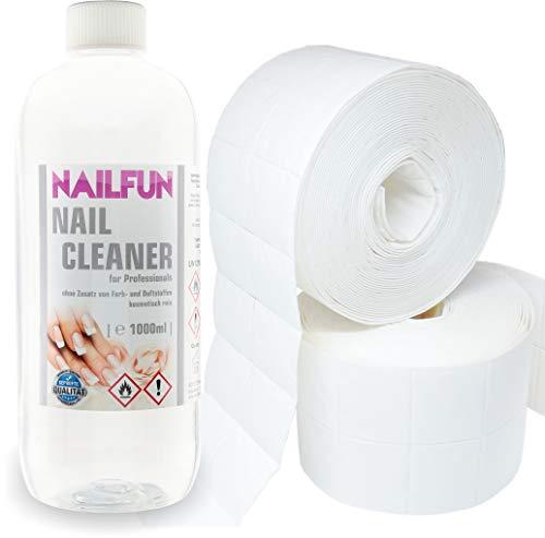 Nail Cleaner 1 Liter = 1000ml + 1000 Zelletten (2 Rollen a' 500 Stück)