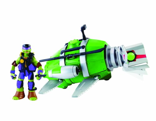 Tortugas Ninja Disney Submarino + Donatello, 33.8 x 19.3 x 11.2 Giochi Preziosi Spagna 94007