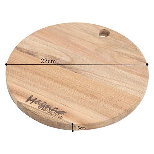 マグナ『ステンレス食器セット天然木まな板付き』