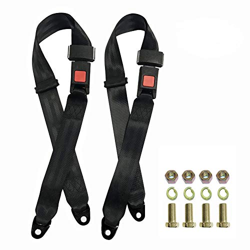 TOYI Universal Seatbelt Kit for Golf Cart, Go Kart, UTV, EZGO, Yamaha, Club Car Seat Belt Kit (2 Pack)