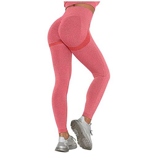 routinfly Damen Hohe Taille Yogahosen, Sexy Push Up Leggings Geraffte Sport Hose Fitnesshose Stretch Training Leggins Lange Laufhose FüR Gym Yoga Workout