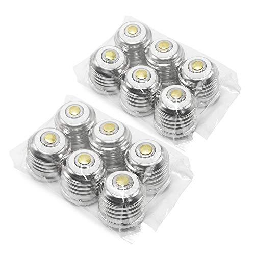 ETOPLIGHTING | 12-Pack | E12 - E26/E27 Base Bombilla Convertidor para E26 Casquillos Base UL Listed Base Adaptador PBT Polímero Resistente al Calor