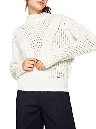 Pepe Jeans Helaia suéter, (Écru 814), Small para Mujer