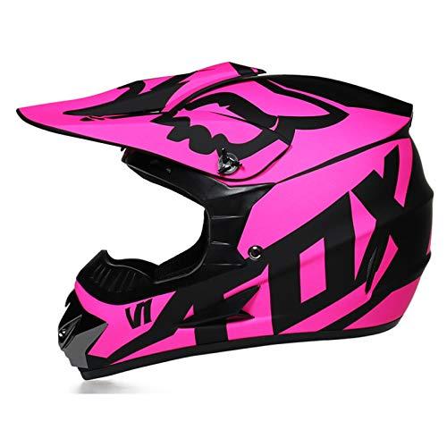 TR-yisheng Offroad-Motorradhelm mit Schutzbrille + Handschuhen + Maskenschlitzen,...