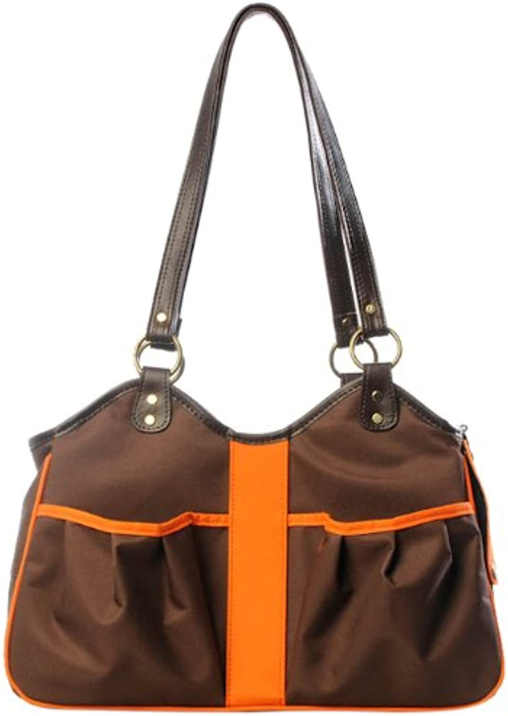 Petote Metro 2 Pet Carrier Bag, Large, Brown orange