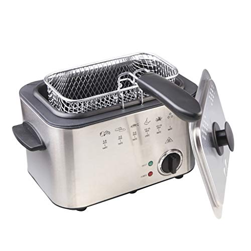 LEL 1200W 1.5L Stainless Steel Deep Fryer Three-Layer Anti-scalding Removable Basket Easy to Clean Chip Fryer
