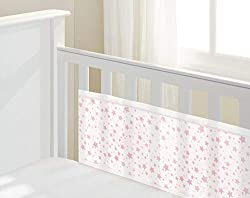 This soft mesh liner helps to keep little arms and legs safely inside the cot whilst helping to protect rock and roll babies from knocks and bumps. Breathe-through mesh fabric promotes air flow and helps temperature control, maintaining optimum comfo...