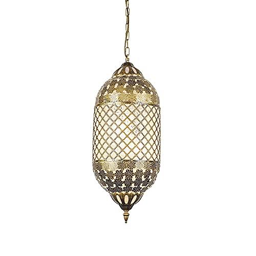 Ye Wang Linterna marroquí Tiffany lámpara Colgante turca Vintage Araña árabe Pantalla Mosaico Iluminación de Techo Sala de Estar Dormitorio Comedor Cocina Decoración Lámpara Colgante E27