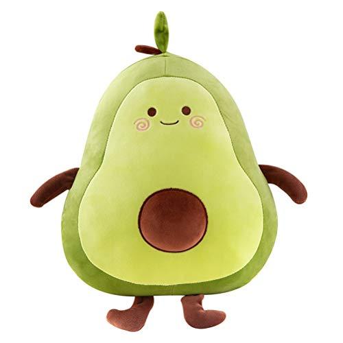 Opplei Gefüllte Plüsch Figur Avocado Spielzeug Kissen Comfort Food Plüsch für Kissen Puppe Kinder Nett Avocado-Kissen-Spielzeug-Frucht Puppe-Kissen-Geschenk
