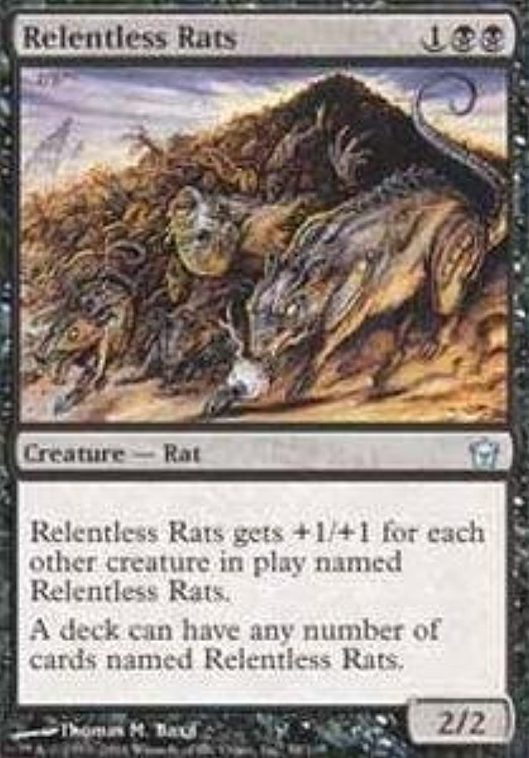 Magic  the Gathering - Relentless Rats - Fifth Dawn - Foil by Magic  the Gathering B01GDO8STG Schön  | Feinbearbeitung