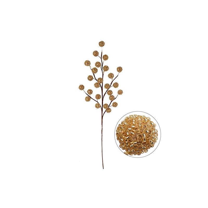"silk flower arrangements larksilk 17"" beaded berry spray 12-pack"