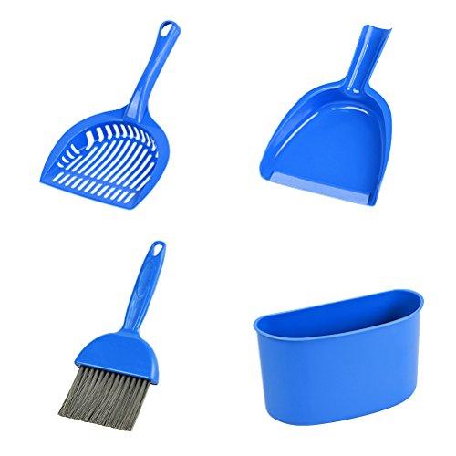 UEETEK 4 Stücke Katzen Streuschaufel mit Kehrschaufel und Besen Set Haustier Reinigung