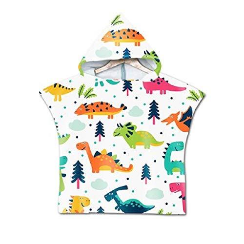 3DWY Toalla de Playa de Dibujos Animados Bebé Niños Toalla de baño con Capucha Albornoz Animal Impreso Niños Niñas Bata con Capucha Poncho para Nadar Ropa de Playa