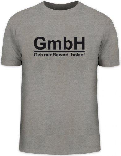 Shirtstreet24, GEH\' Mir Bacardi Holen! Herren T-Shirt Fun Shirt Funshirt, Größe: 3XL,Graumeliert