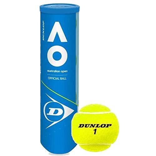 DUNLOP Australian Open (AO) Extra Duty All-Court Tennis Balls - 3 Ball Can (8 Cans)