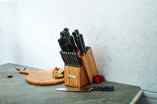 Farberware Edgekeeper 21-Piece Bamboo Cutlery Set, Black