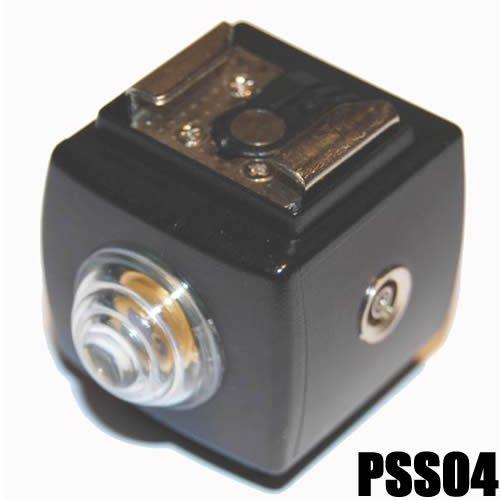 Optischer Servo Blitzauslöser Fernauslöser PC Buchse DynaSun PSS4 ISO-Blitzschuh Aufsteckblitz Blitz