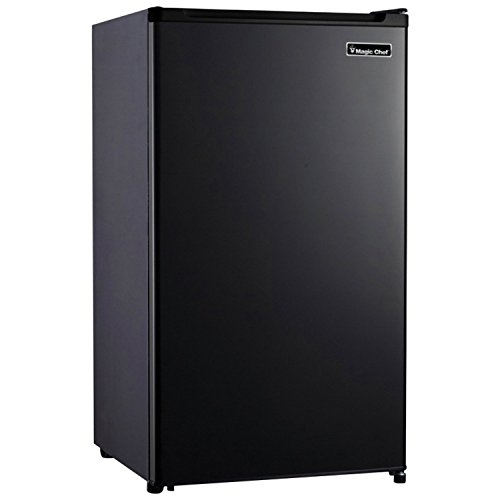 Magic Chef MCBR440B2 4.4 Cubic Feet Compact Mini Refrigerator & Freezer with Adjustable Temperature Control, Black