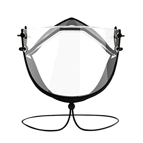 FILWO Transparente Offene Gesichtsschutz Wiederverwendbare Bequeme Half Face Visier aus Kunststoff Klarer Tragender Mundschutz Gesichtsschutzschild
