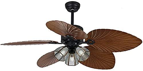 110V-220V LED de techo LED Luz de techo de 52 pulgadas Luces de ventilador de...