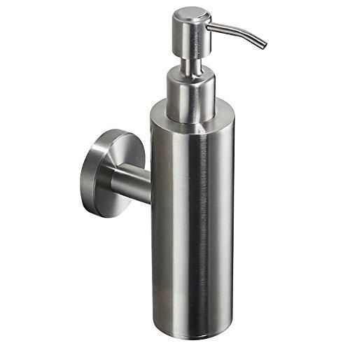 BigBig Home Manual Soap Dispenser Holder, Brushed Nickel Finish Wall Mounted Soap Dispenser 17oz/500ML for Bathroom Kitchen Hotel Restaurant Modern Style Bathroom Accessories