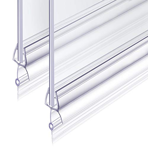 Junta Para Mampara de Ducha 2x100cm Revspoir se Ajusta Perfectamente a la Puerta de Vidrio de Goma Mampara Ducha 6 mm Fácil Montaje