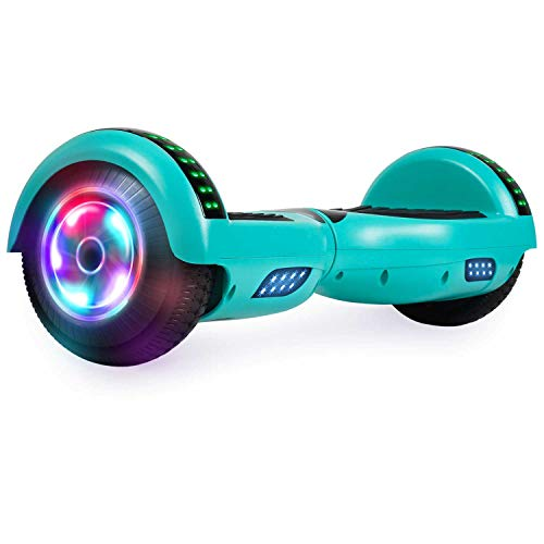 UNI-SUN Bluetooth Hoverboard Two-Wheel Self Balancing Hoverboard with LED Lights - UL 2272 Certified, Green