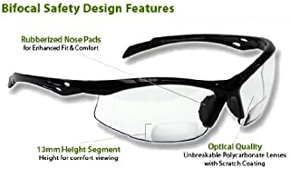 Bifocal Safety Glasses SB-9000 PS Clear, +3.00